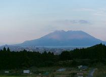 温泉から望める桜島